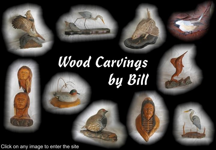 Wood Carvings by Bill - a tribute to artist Bill Windsor of Olds, Alberta, Canada